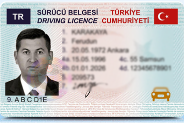 Replace driving license with Turkish one